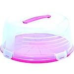 Curver kerek tortabúra fukszia-átlátszó színben 34,7*34,7*15,2 cm