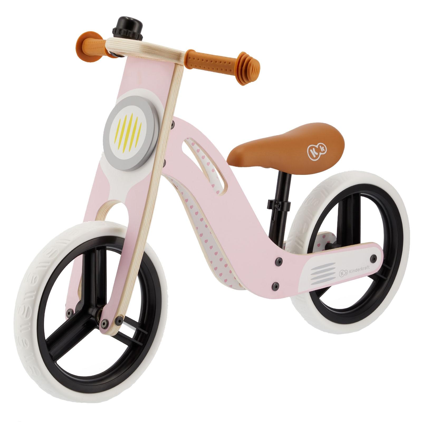 Fotografie Bicicleta din lemn fara pedale Kinderkraft - Uniq, roz