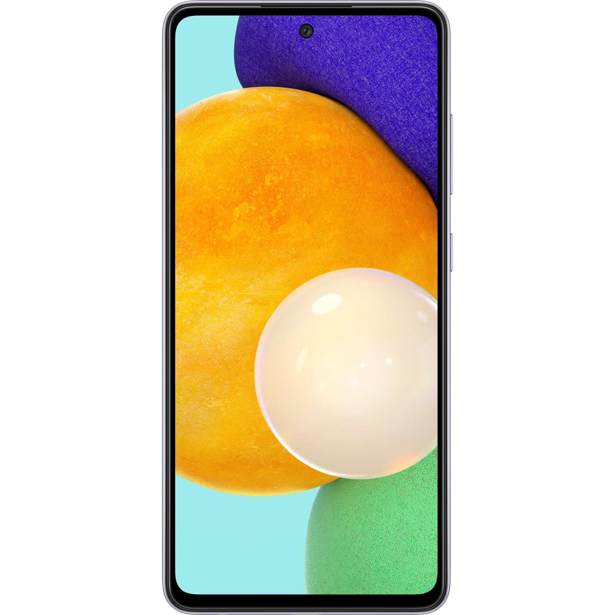 Fotografie Telefon mobil Samsung Galaxy A52, Dual SIM, 128GB, 6GB RAM, 5G, Light Violet