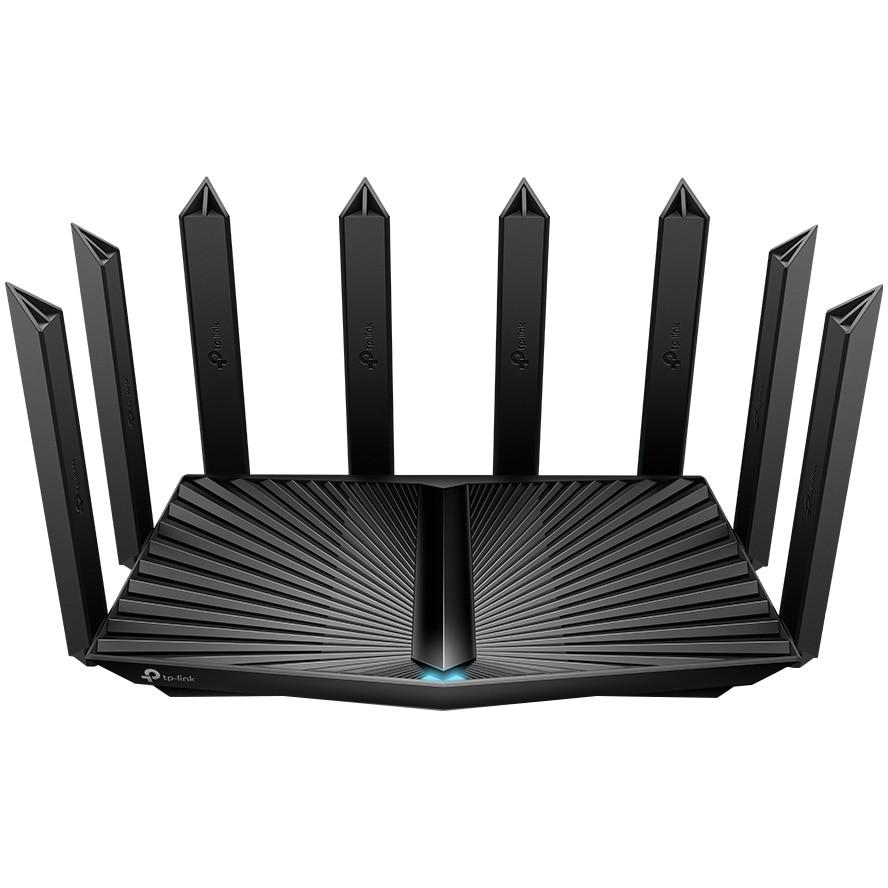 Fotografie Router Wireless Wi-Fi 6 TP-Link Archer AX90, Gigabit, Tri-Band AX6600, WAN 2.5 Gbps, Beamforming, OFDMA, MU-MIMO, HomeShield, Procesor Quad-Core 1,5 GHz, 8 antene Wi-Fi