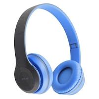 Bluetooth headset, Kék, Air, P47, vezeték nélküli, mikrofon, memóriakártya, kihangosító hívá