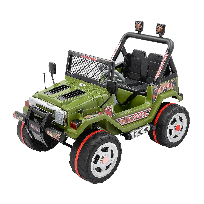 Fotografie Masinuta electrica pentru copii Mappy, cu 2 locuri, Drifter Jeep, Verde