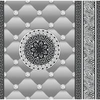 Tapéta DEGRETS 1434 Papír, Eileen szürke, Méret: 0.53m x 10.05m = 5.3 m2