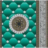 Tapéta DEGRETS 1430 Papír, Eileen zöld, Méret: 0.53m x 10.05m = 5.3 m2