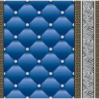 Tapéta DEGRETS 1451 Papír, Eileen 2 kék, Méret: 0.53m x 10.05m = 5.3 m2