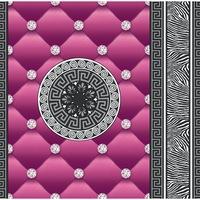 Tapéta DEGRETS 1436 Papír, Eileen lila, Méret: 0.53m x 10.05m = 5.3 m2
