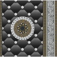Tapéta DEGRETS 1438 Papír, Eileen fekete-arany, Méret: 0.53m x 10.05m = 5.3 m2