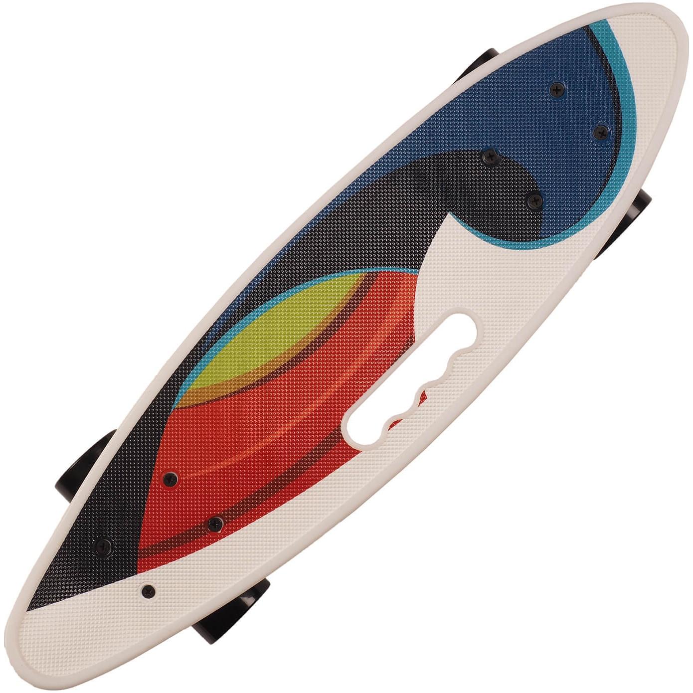 Fotografie Penny board Action One® Portabil ABEC-7, PU, Aluminiu, Color Wave