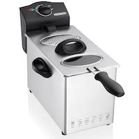 Фритюрник Monzana, 3 литра, 2200 W, променлива температура от 130-190 ° C, Компактен, Неръждаема стомана