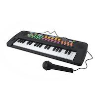 Multifunkciós, elektromos játék zongora gyermekeknek, 37 billentyűs, ajándék mikrofonnal