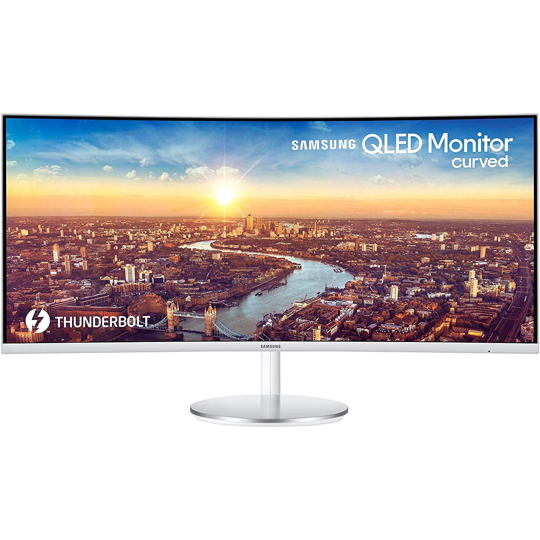 """Fotografie Monitor curbat LED VA Samsung, 34"""", WQHD, DisplayPort, Argintiu, LC34J791WTRXEN"""