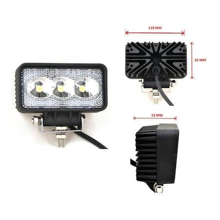 3 LED Халогени Светлини Работни Лампи Flexzon 10-30V за Ролбар АТВ, Джип