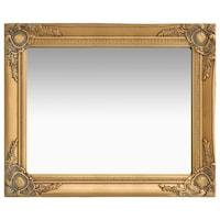 vidaXL aranyszínű barokk stílusú fali tükör 50 x 60 cm