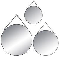 Kerek alakú dekoratív tükrök, három tükör készlet, különféle méretben - Atmosphera