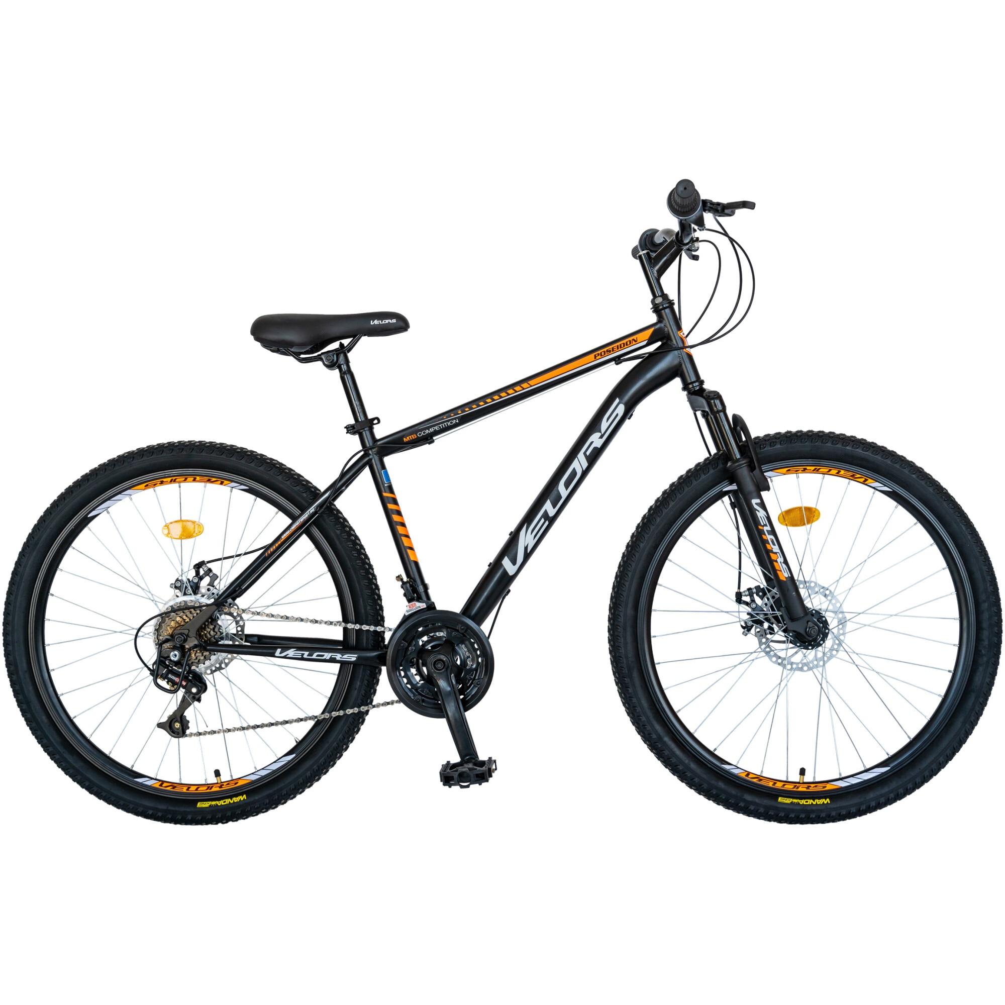"""Fotografie Bicicleta MTB 26"""" Velors V2609A, Negru/Portocaliu/Alb"""