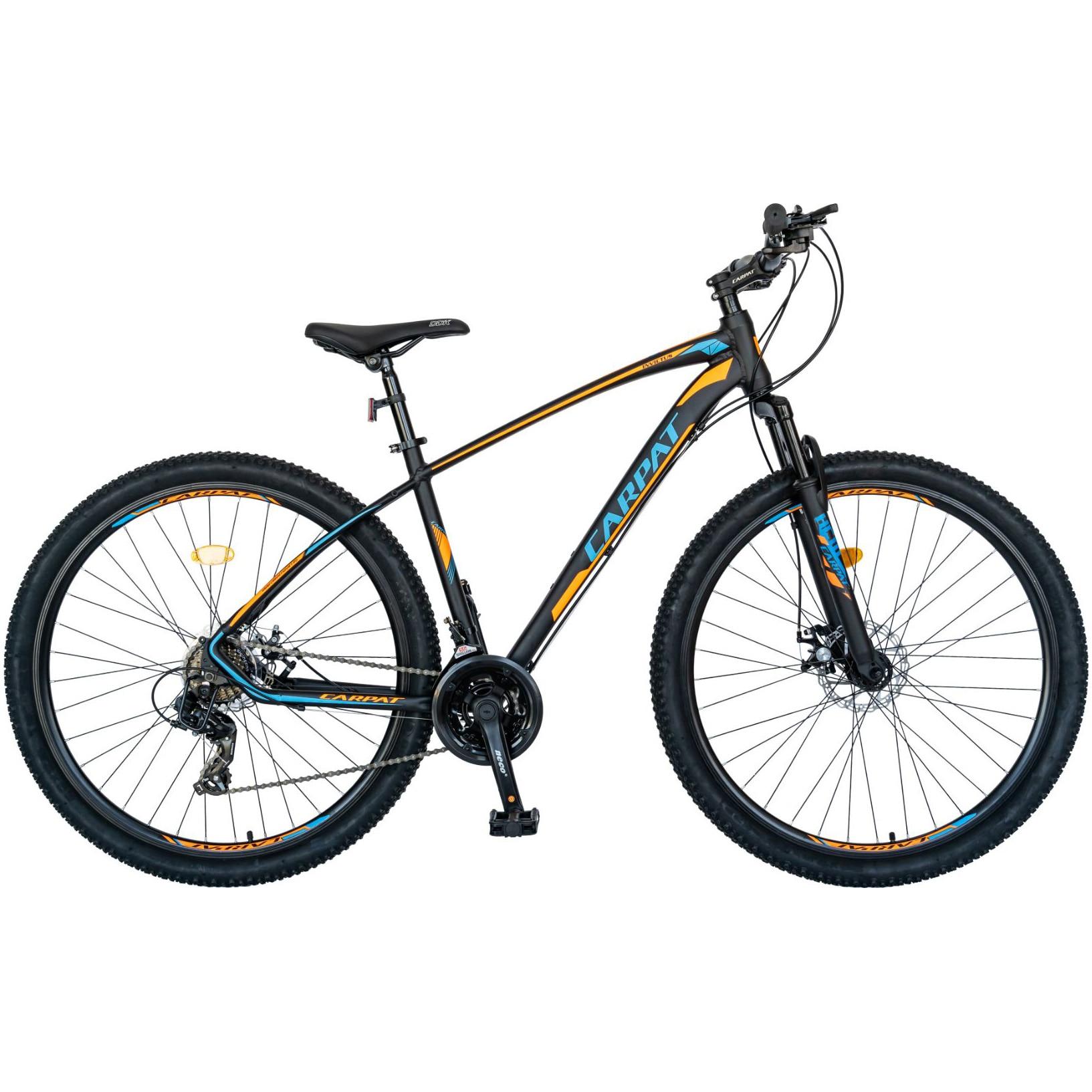 "Fotografie Bicicleta MTB 29"" Carpat C2957C, Negru/Portocaliu/Albastru"