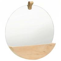 vidaXL tömör fenyőfa fali tükör 35 cm