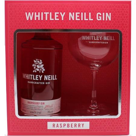 Pachet Gin Whitley Neill Raspberry, 0.7l + Copa Glass
