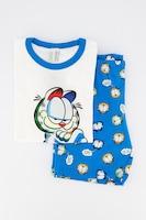 Undercolors of Benetton, Пижама с къси ръкави и щампа на Garfield, Бял / син / червен, 11-12Y Standard