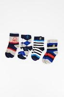 Undercolors of Benetton, Десенирани чорапи - 4 чифта, Сив/Син/Бял, 20-24 EU