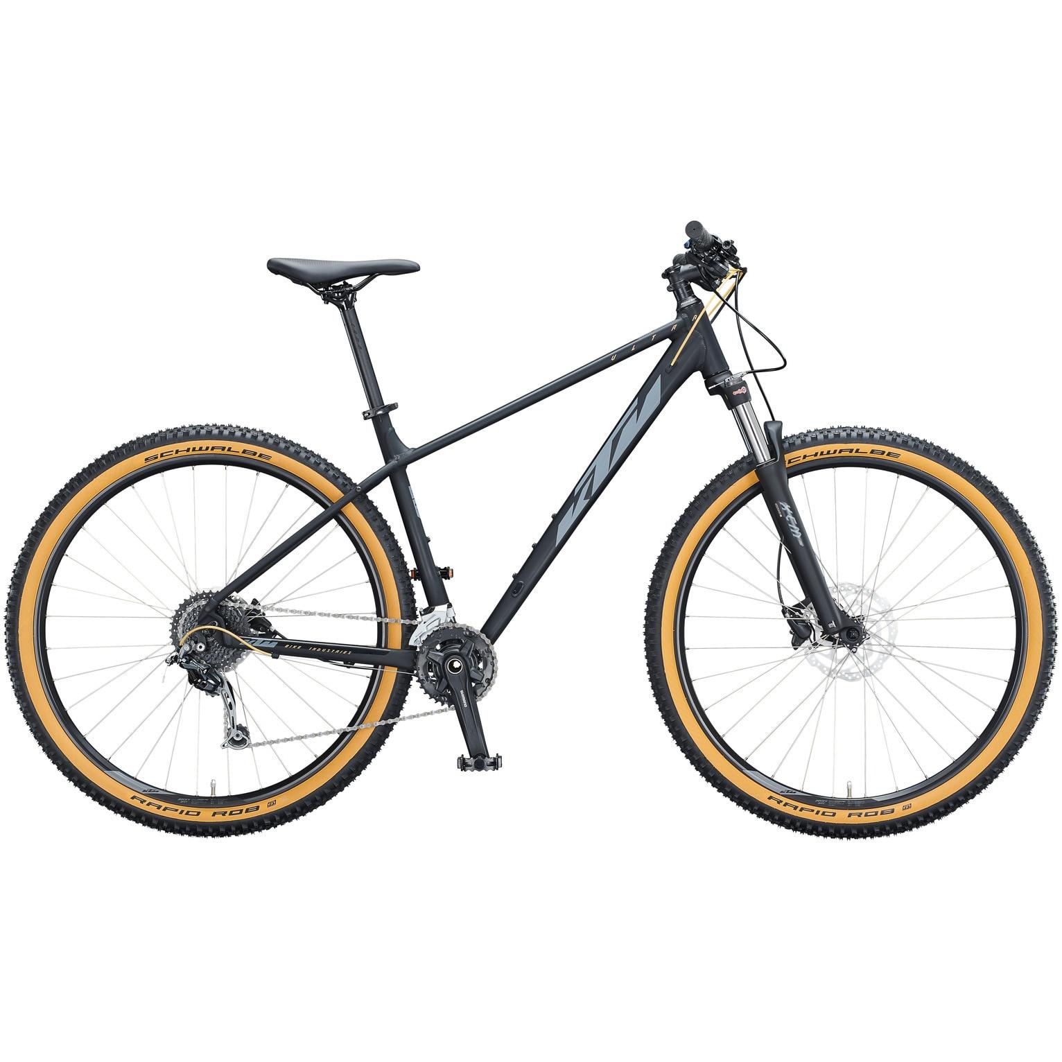 Fotografie Bicicleta KTM Ultra Fun 29-er, Black Matt/Grey Gold, XL, 53cm