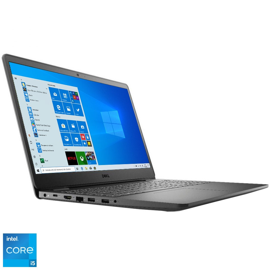 "Fotografie Laptop Dell Vostro 3500 cu procesor Intel Core i5-1135G7 pana la 4.20 GHz, 15.6"", Full HD, 4GB, 1TB HDD, Intel Iris Xe Graphics, Windows 10 Pro, Black"
