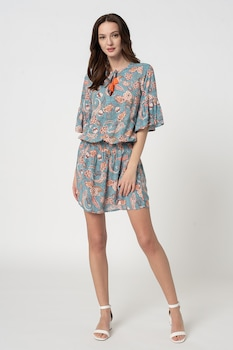 ESPRIT Bodywear, Sarasa virágmintás strandruha, Többszínű