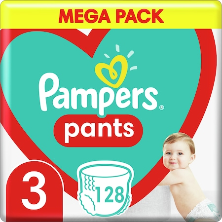 Pampers Pants Nadrágpelenka, Mega Pack, 3-as méret, 6-11 kg, 128 db