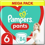 Pampers Pants Nadrágpelenka, Mega Pack, 6-os méret, 15+ kg, 84 db