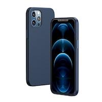 Калъф за телефон Baseus Magnetic Leather Case Soft PU кожен калъф за iPhone 12 Pro/ iPhone 12, син