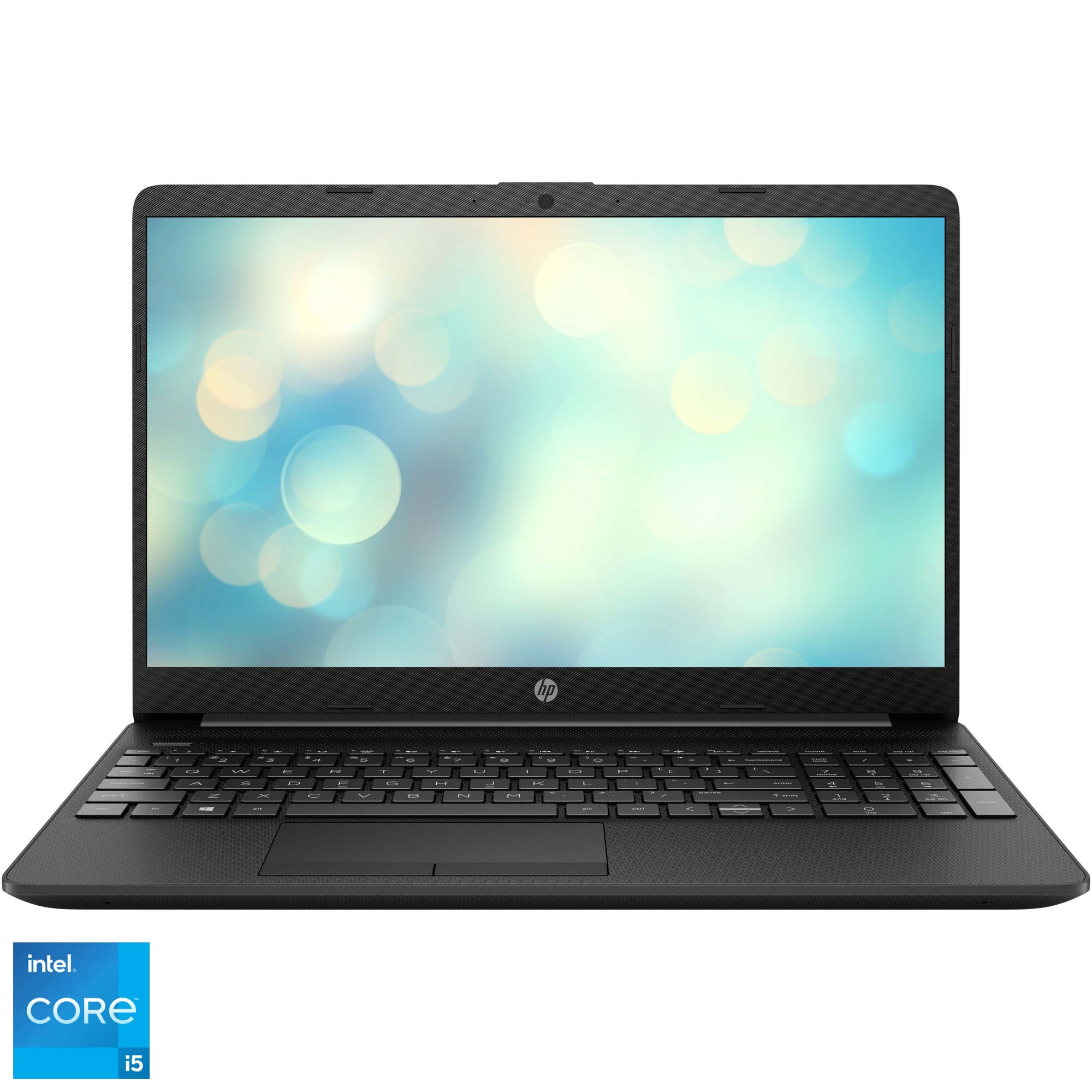 "Fotografie Laptop HP 15-dw3034nq cu procesor Intel Core i5-1135G7 pana la 4.20 GHz, 15.6"", Full HD, 8GB, 512GB, Intel Iris Xe Graphics, Free DOS, Jet Black"