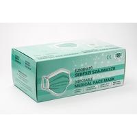 Eldobható magyar gyártású sebészi szájmaszk, 3 rétegű, Nem steril, Kék színű, 50 db