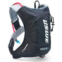 Uswe Vertical 4 Plus hátizsák, 2 literes ivózsákkal, karbon fekete