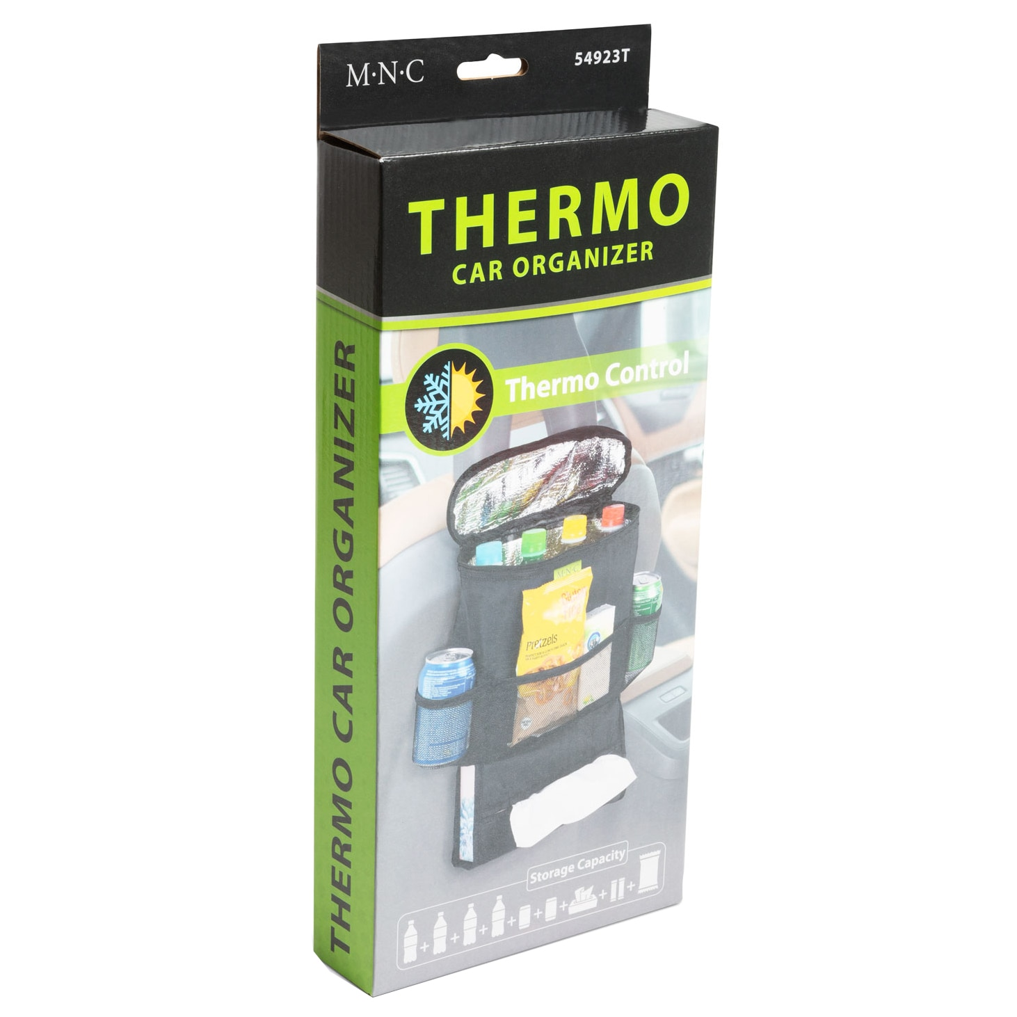 Fotografie Organizator auto MNC ,termoizolant , suspendabil pe spatar , 40x30 cm , negru