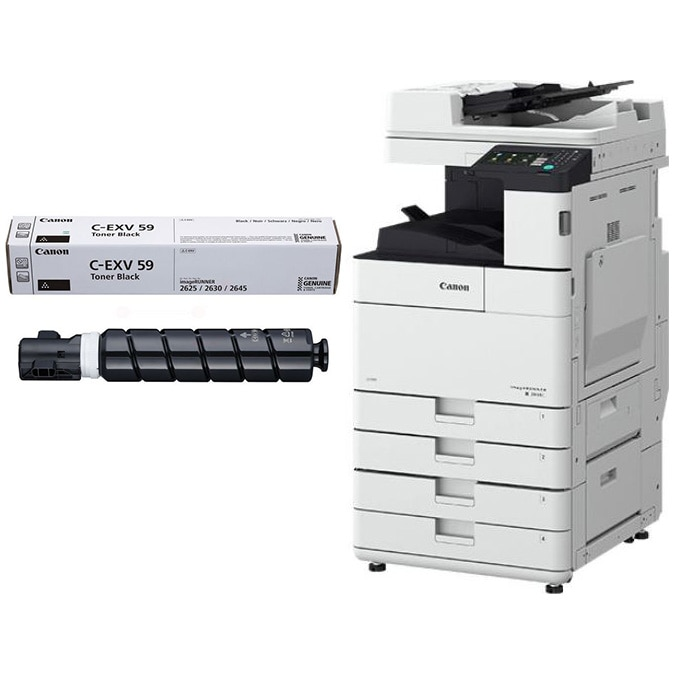 Fotografie Multifunctional laser monocrom Canon IR2630i, ADF, Duplex, Retea, Wireless, A3 + toner C-EXV59