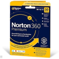Norton 360 Premium + 75 GB Cloud storage 10-Device 1 year EURO