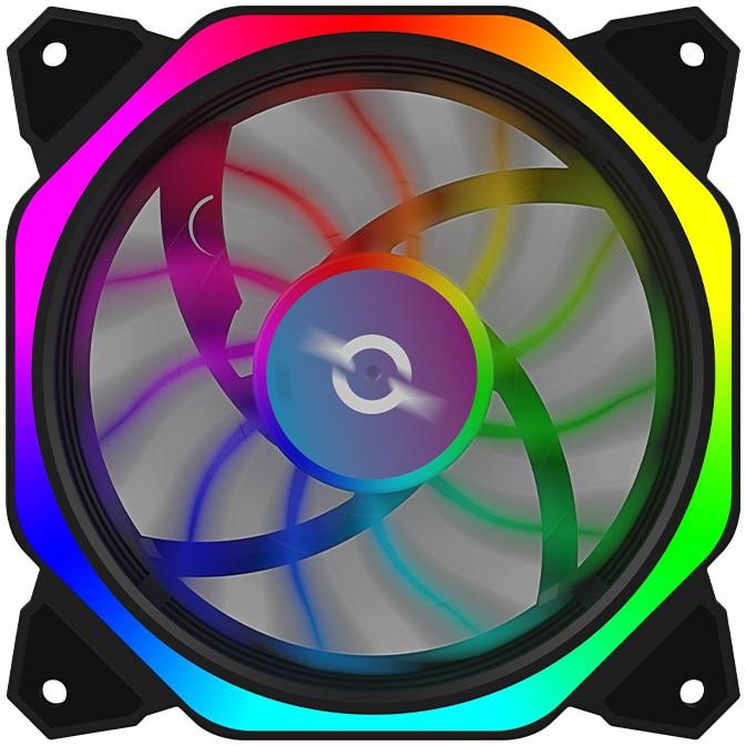 Fotografie Ventilator AQIRYS Cetus 6P-12SLI24-RGB, 120 mm