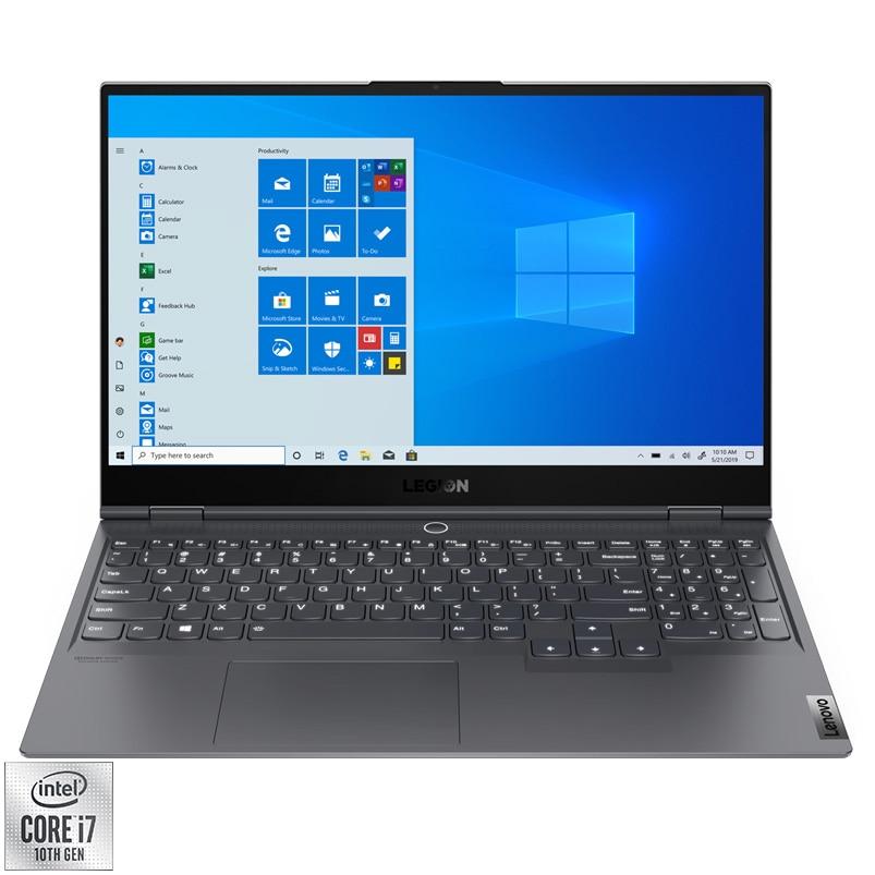 "Fotografie Laptop Gaming Lenovo Legion S7 15IMH5 cu procesor Intel Core i7-10875H pana la 5.10 GHz, 15.6"", Full HD, IPS, 144Hz, 16GB, 1TB SSD, NVIDIA GeForce RTX 2060 Max-Q 6GB, Windows 10 Home, Slate Grey"