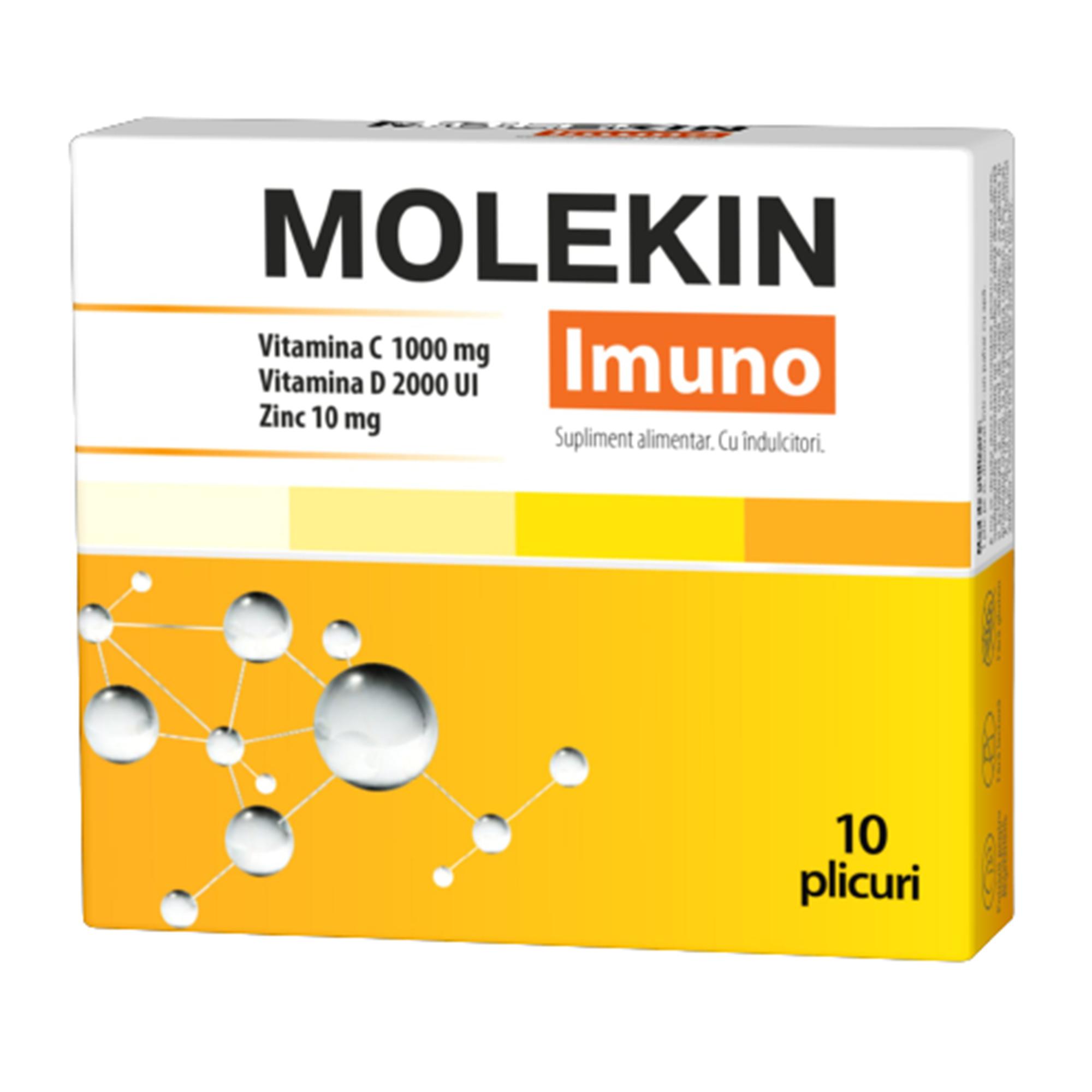 Molekin Vitamina C + Zinc, 20 comprimate efervescente, Zdrovit - in2constient.ro