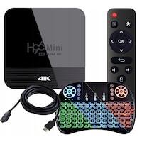 Farrot Mini PC Smart TV Box H96 Mini H8 RK3228a Android 9.0 Médialejátszó, BT 4.0 , 4K OTT, OTA, Netflix + i8 RGB háttérvilágítású billentyűzet