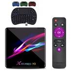 Farrot Okos OTT TV Box, X88 PRO X3 Android 9.0 tv box, 4/ 32GB ROM Quad-core 64 bit, OTA, Dual Band WiFi BT4.1, 3D 8K Ultra+ i8 RGB háttérvilágítású billentyűzet