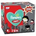 Pampers Pants Az Igazság Ligája szuperhősös pelenkacsomag, GiantPackPlus, 4-es méret, 9-15 kg, 72db
