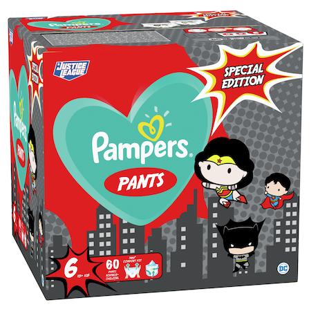 Pampers Pants Az Igazság Ligája szuperhősös pelenkacsomag, GiantPackPlus, 6-os méret, 60 db