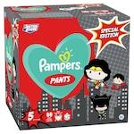 Пелени-гащички Pampers Pants с DC супергерои - специално издание, Размер 5, 12-17 кг, 66 броя