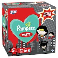 Pampers Pants Az Igazság Ligája szuperhősös pelenkacsomag, GiantPackPlus, 5-ös méret, 66db