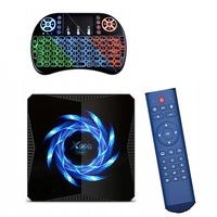 farrot Okos TV Box, X96Q MAX Android 10.0 tv box, 4/ 32GB ROM, videohívás, Quad-core 64 bit, BT4.1, 3D 6K Ultra+ i8 RGB háttérvilágítású billentyűzet