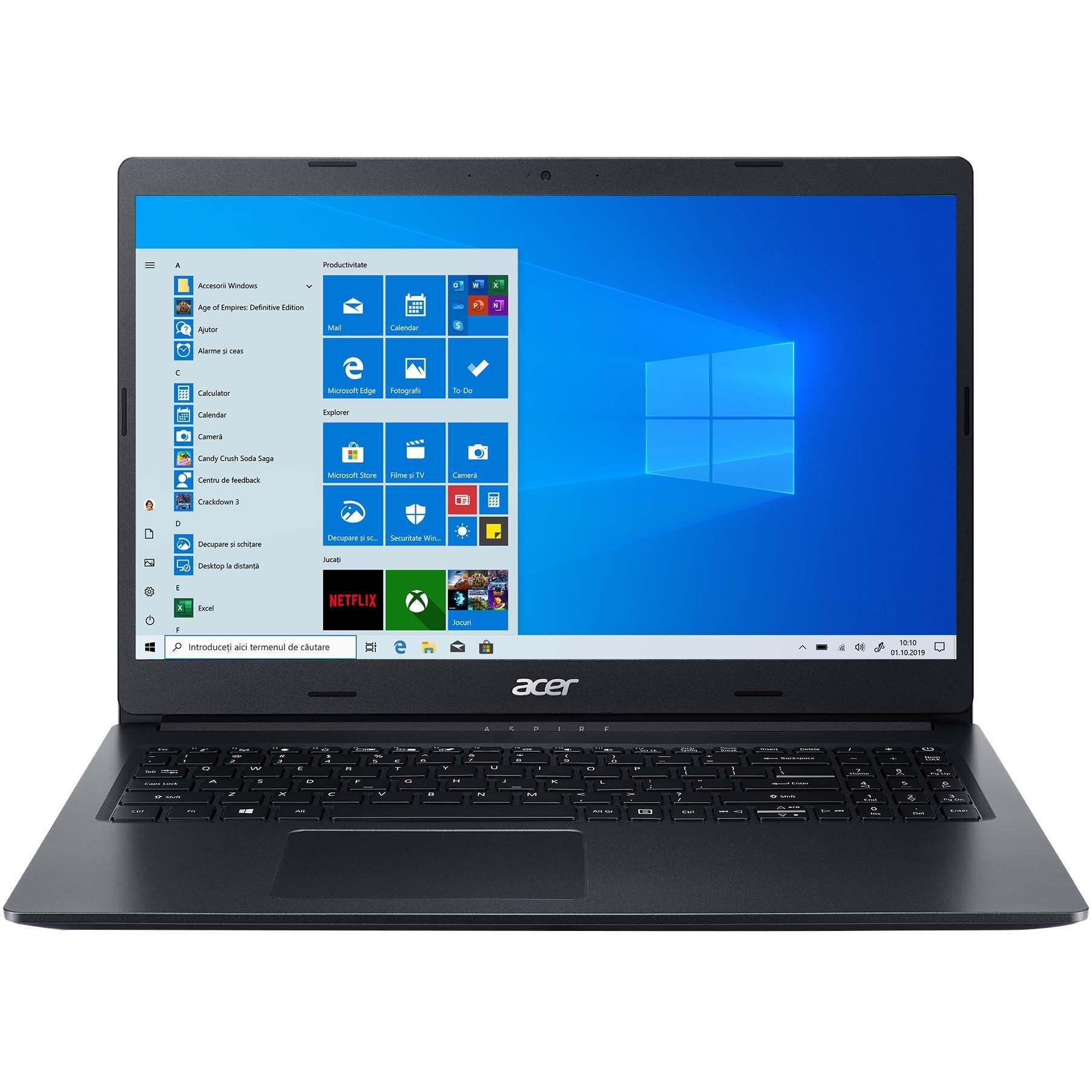 "Fotografie Laptop Acer Aspire 3 A315-23G cu procesor AMD Ryzen 5 3500U, 15.6"", Full HD, 8GB, 256GB SSD, AMD Radeon Graphics, Windows 10 Home, Black"