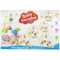 Baby Paradise Zenélő körforgó kiságyra, plüss halacskák