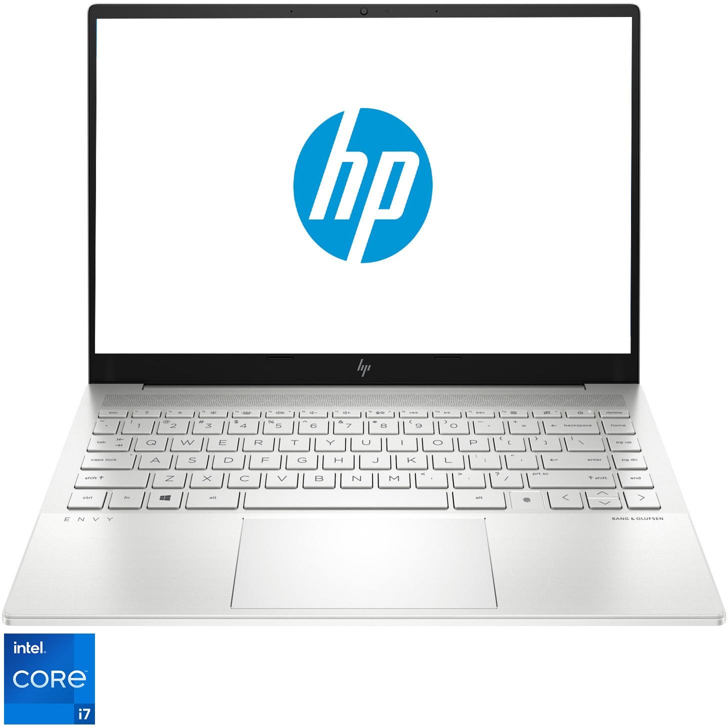 "Fotografie Laptop ultraportabil HP ENVY 14-eb0019nq cu procesor Intel® Core™ i7-11370H, 14"", WUXGA, 16GB, 512GB SSD, Intel® Iris® Xᵉ Graphics, Free DOS, Natural silver"