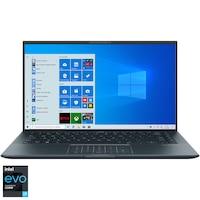 "Laptop ultraportabil ASUS ZenBook 14 Ultralight UX435EAL cu procesor Intel® Core™ i7-1165G7 pana la 4.70 GHz, 14"", Full HD, 8GB, 512GB SSD + 32GB Intel® Optane™, Intel® Iris Xe Graphics, Windows 10 Home, Pine Grey"